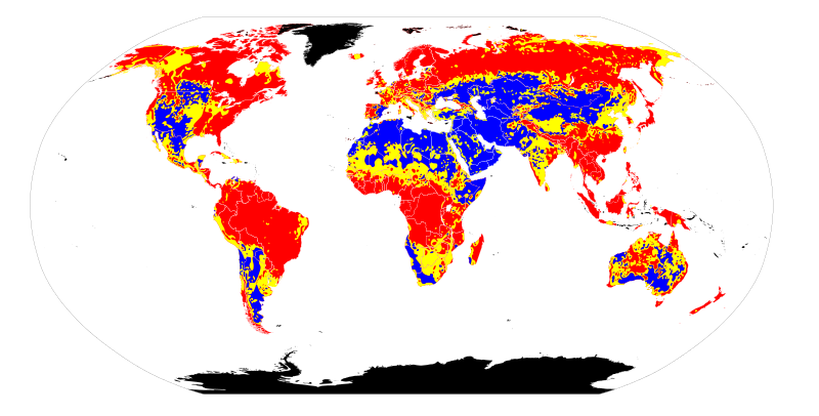 Soil pH maps from World. Author: Ninjatacoshell